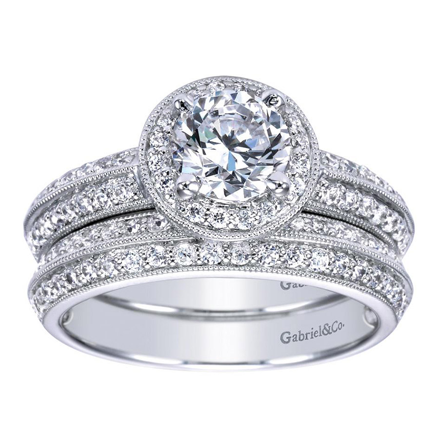 Gabriel 14 Karat Contemporary Engagement Ring ER3914PT3JJ Alternative View 3