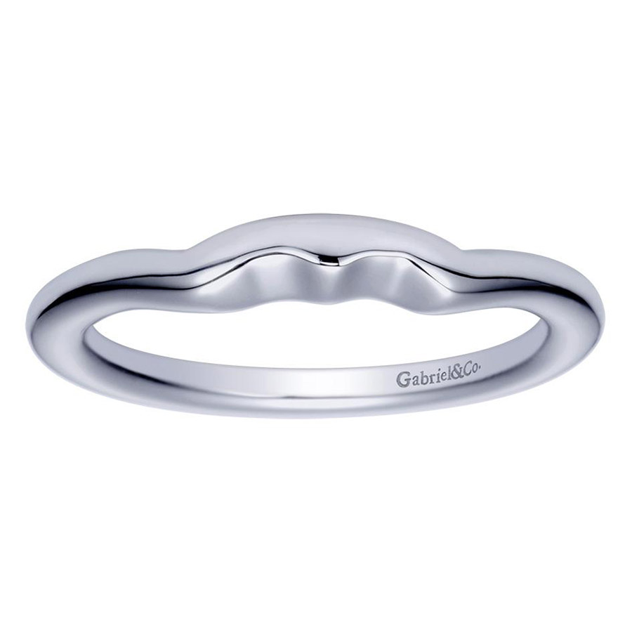 Gabriel Platinum Contemporary Wedding Band WB5993PTJJJ Alternative View 4