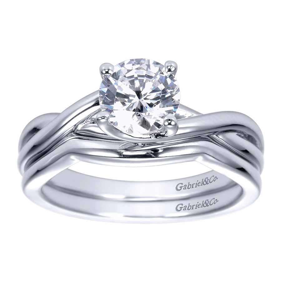 Gabriel Platinum Contemporary Engagement Ring ER8072PTJJJ Alternative View 3