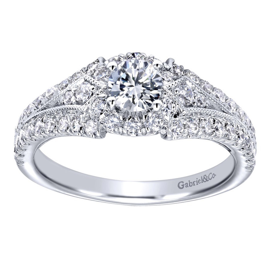 Gabriel 14 Karat Contemporary Engagement Ring ER910140W44JJ Alternative View 4