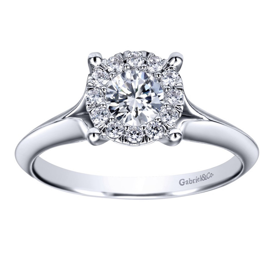 Gabriel 14 Karat Contemporary Engagement Ring ER910941W44JJ Alternative View 4