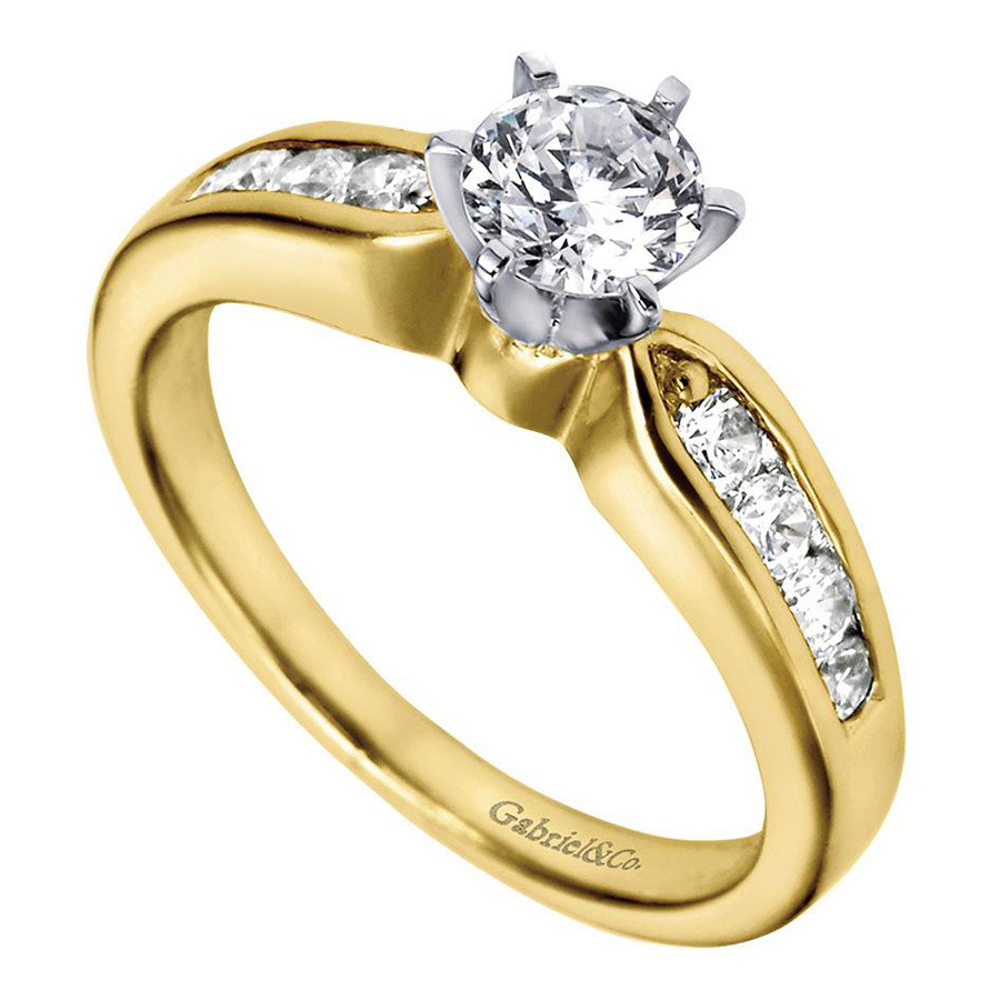 Gabriel 14 Karat Contemporary Engagement Ring ER2294M44JJ Alternative View 2