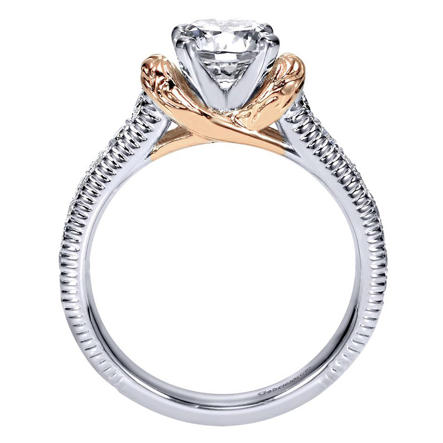 Gabriel 14 Karat Contemporary Engagement Ring ER9238T44JJ Alternative View 1