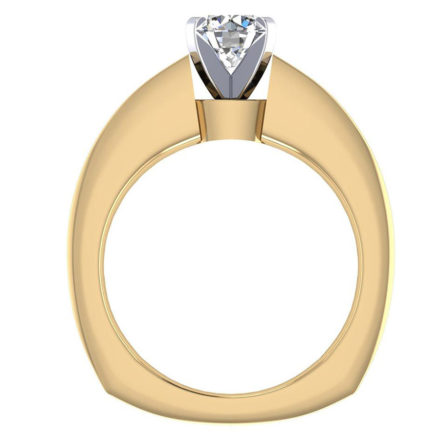 Gabriel 14 Karat Contemporary Engagement Ring ER4184M44JJ Alternative View 1