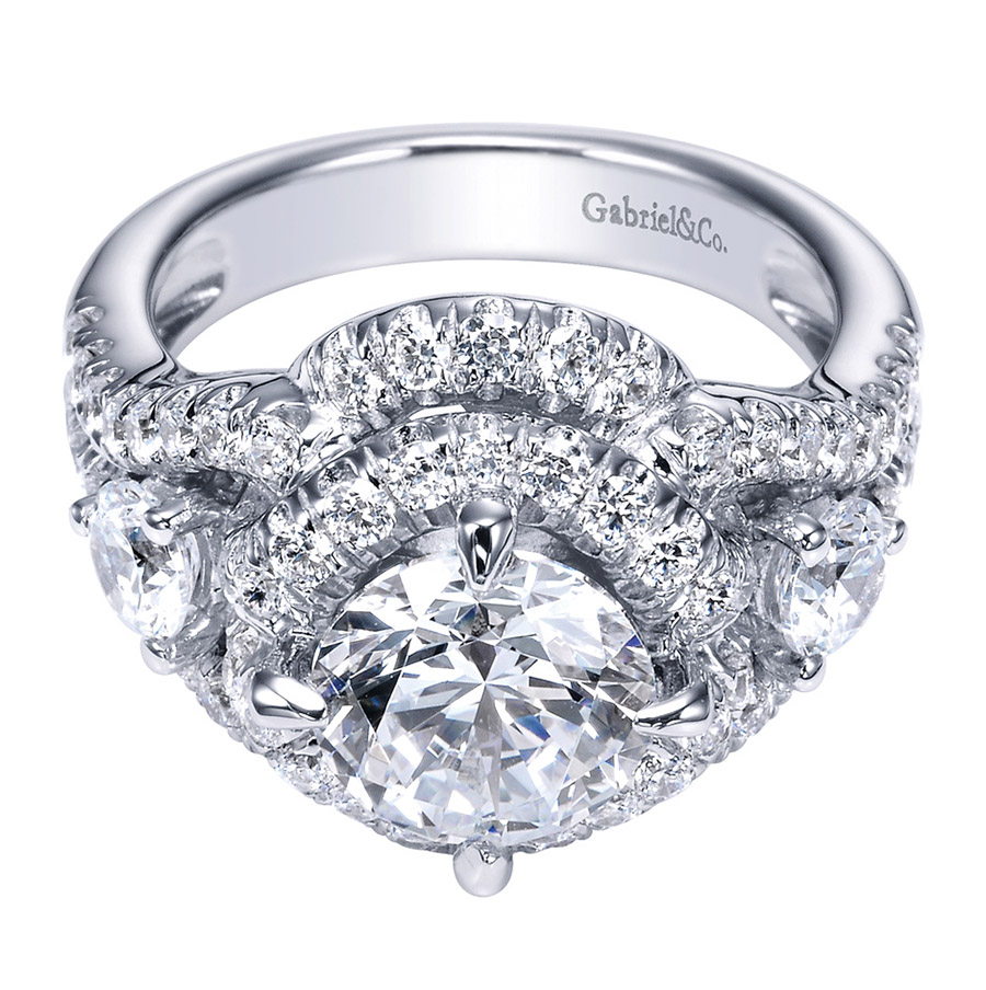 Gabriel 18 Karat Contemporary Engagement Ring ER8472W83JJ