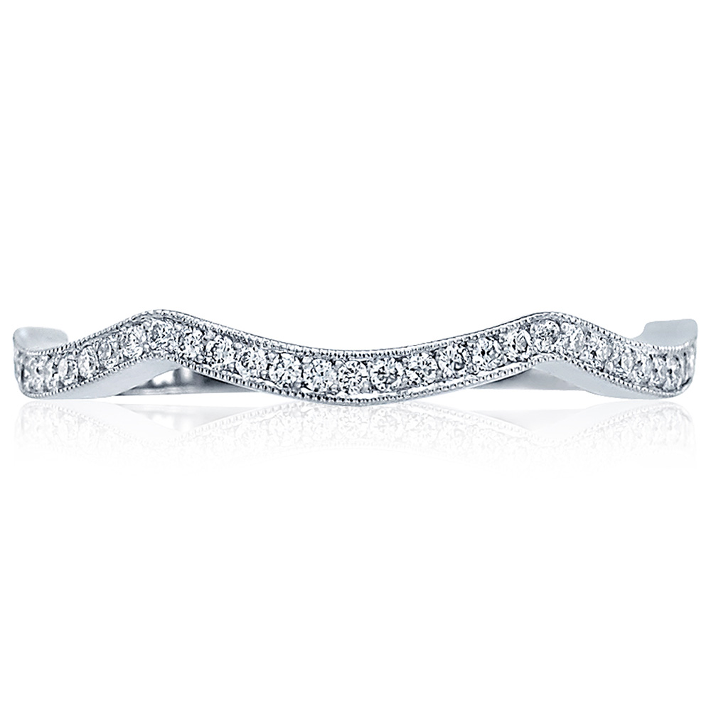 Tacori 2565B-1 18 Karat Ribbon Diamond Wedding Band