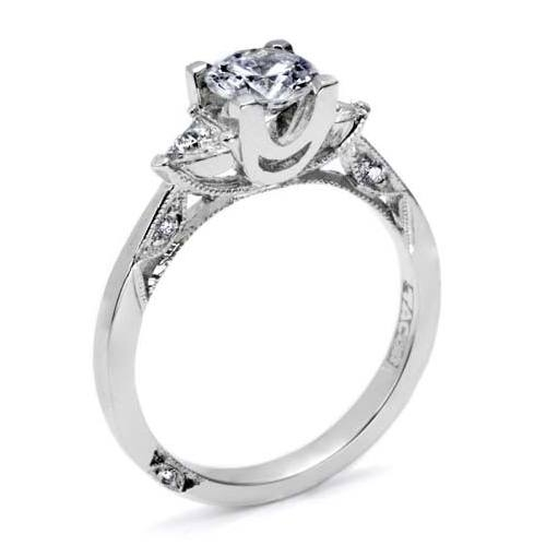 Tacori Platinum Simply Tacori Engagement Ring 2606RD6 Alternative View 1
