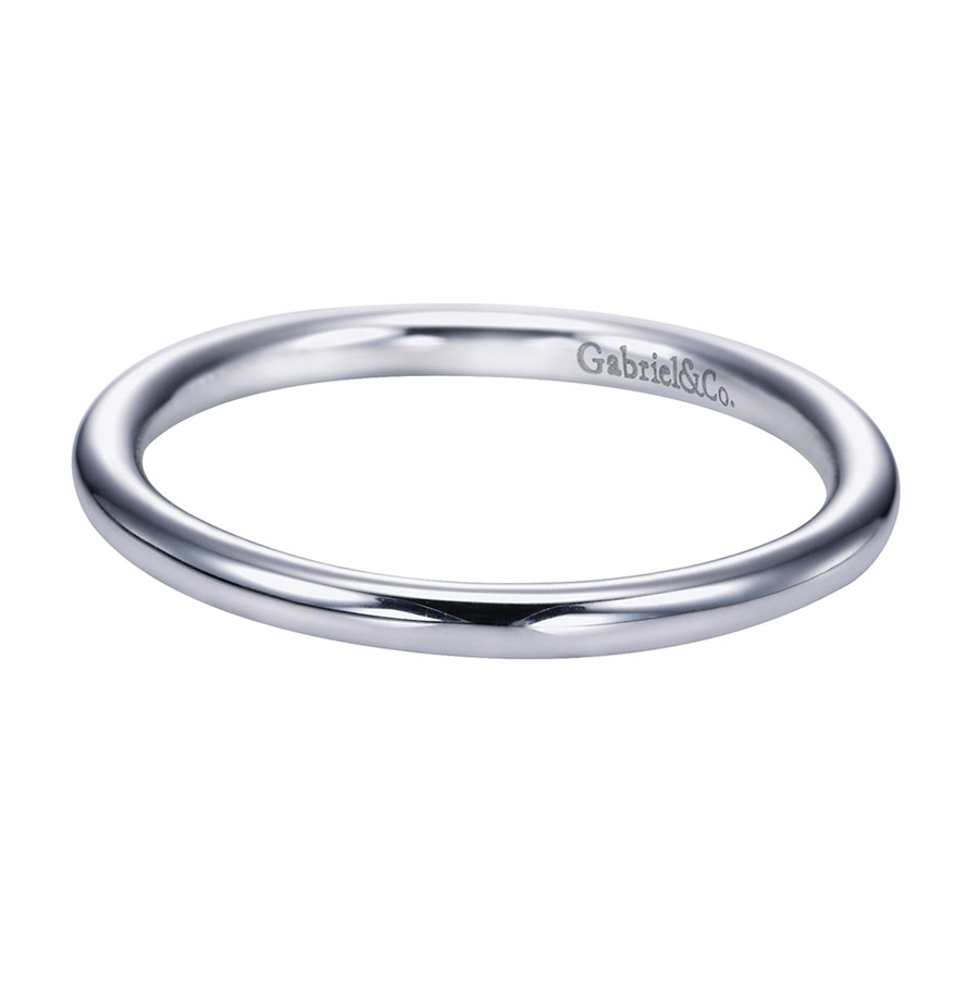 Gabriel Platinum Contemporary Wedding Band WB6939PTJJJ