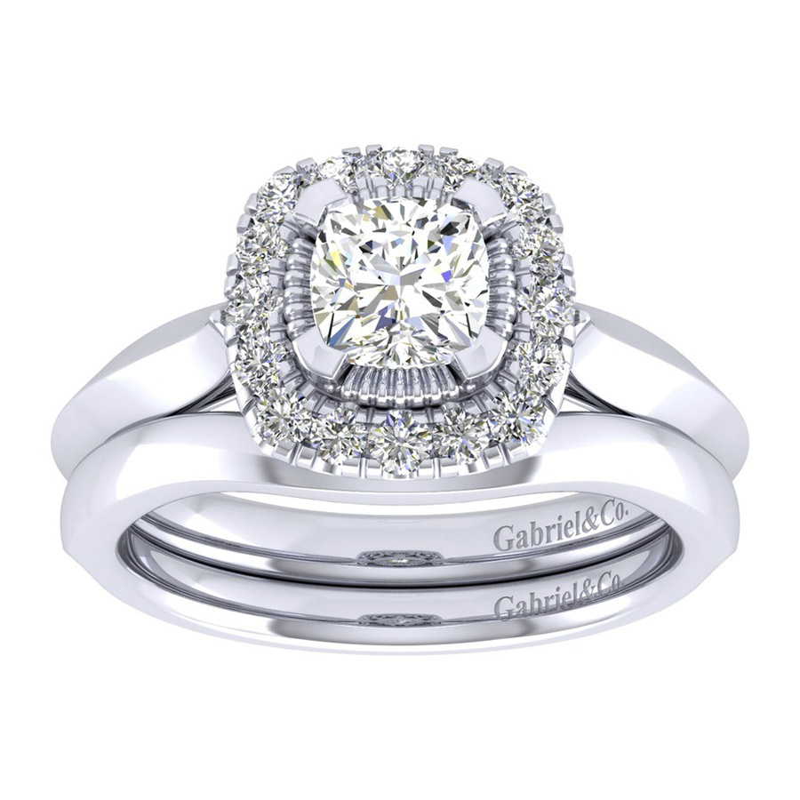 Gabriel 14 Karat Perfect Match Engagement Ring ER001B4AJW44JJ Alternative View 3