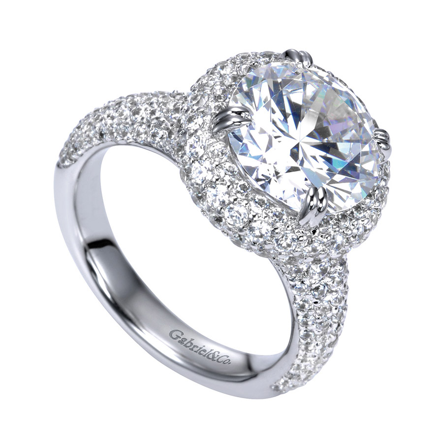 Gabriel 18 Karat Contemporary Engagement Ring ER8309W83JJ Alternative View 2