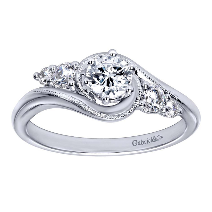 Gabriel 14 Karat Contemporary Engagement Ring ER910064W44JJ Alternative View 4