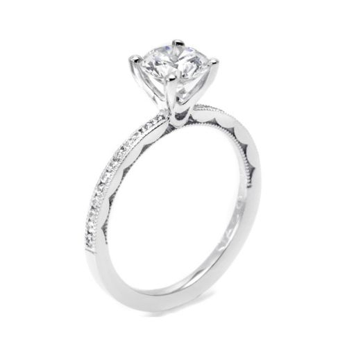 44-15RD65 Tacori Crescent 18 Karat Engagement Ring Alternative View 1