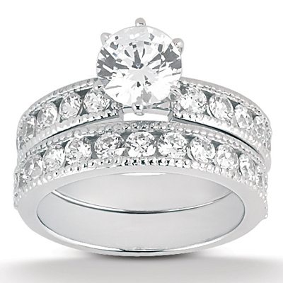 Taryn Collection Platinum Diamond Engagement Ring TQD A-8751