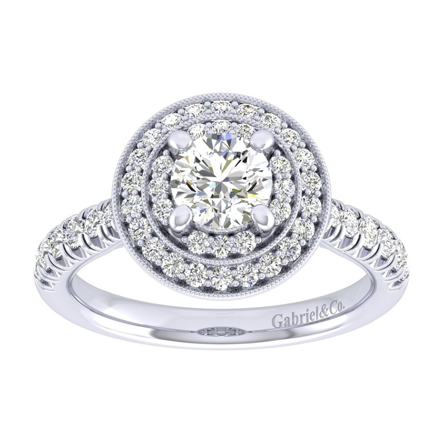 Gabriel 14 Karat Perfect Match Engagement Ring ER039B3AHW44JJ Alternative View 4