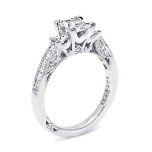 Tacori 2636PR6 Platinum Simply Tacori Engagement Ring Alternative View 3