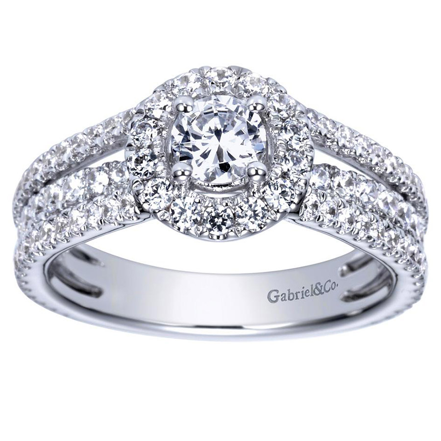 Gabriel 14 Karat Contemporary Engagement Ring ER98535W44JJ Alternative View 4