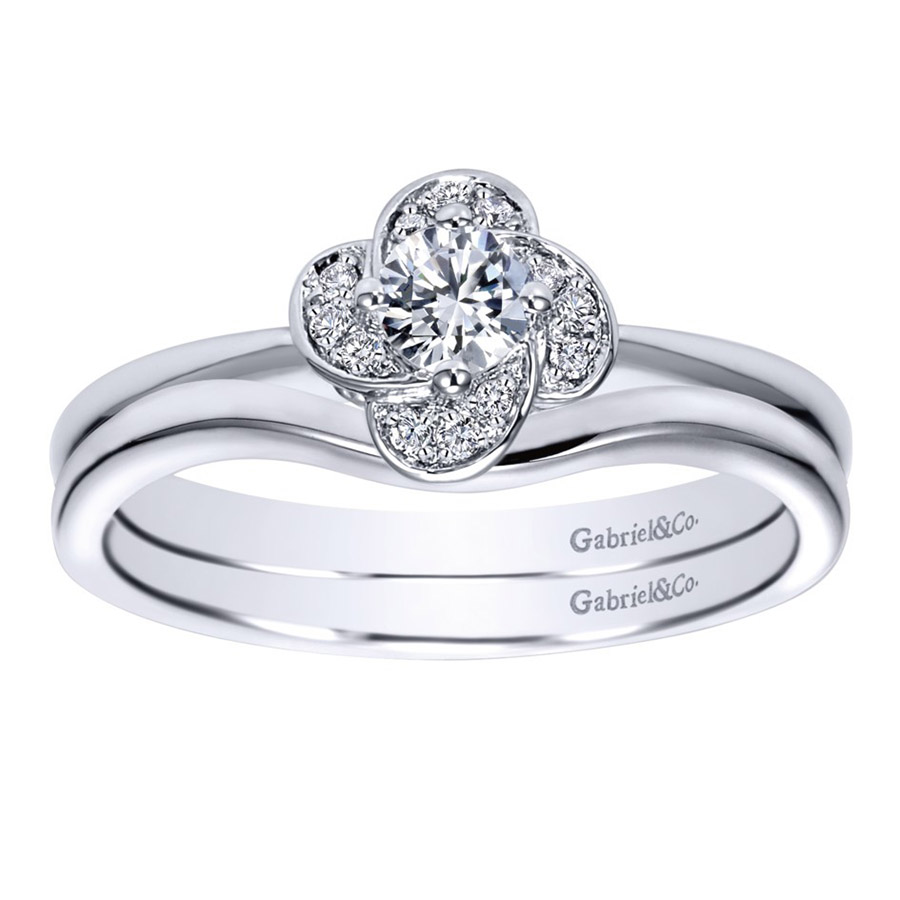 Gabriel 14 Karat Contemporary Engagement Ring ER97764W44JJ Alternative View 3