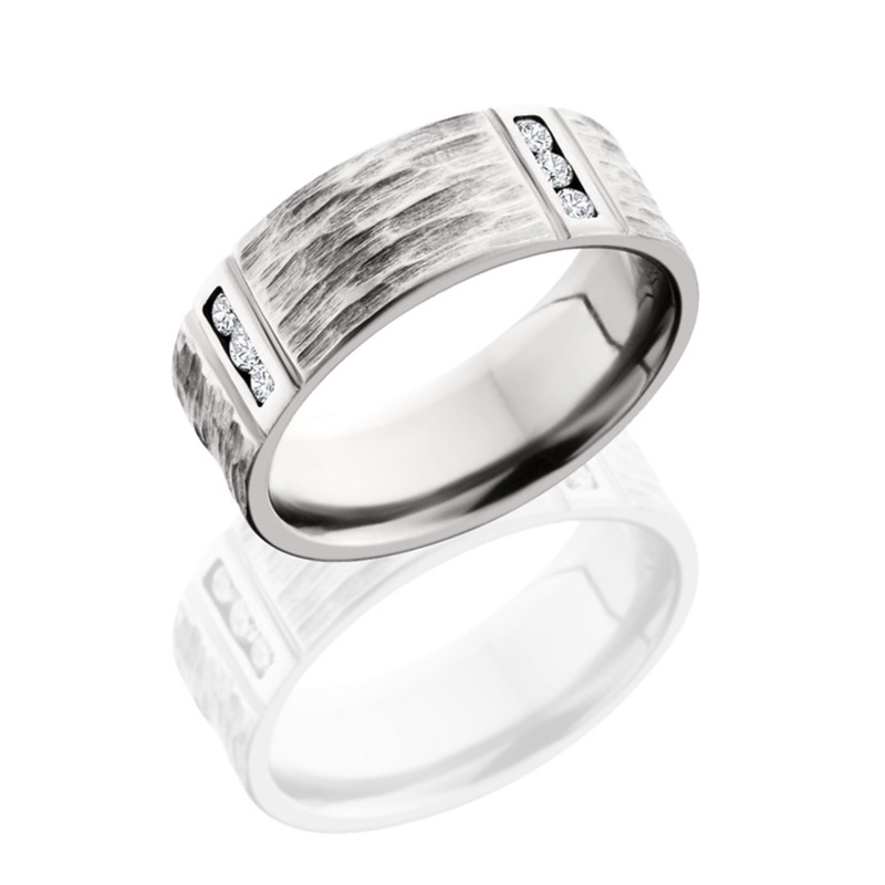 Lashbrook 8FM4VLCHANNELDIA TBH-POLISH Titanium Wedding Ring or Band