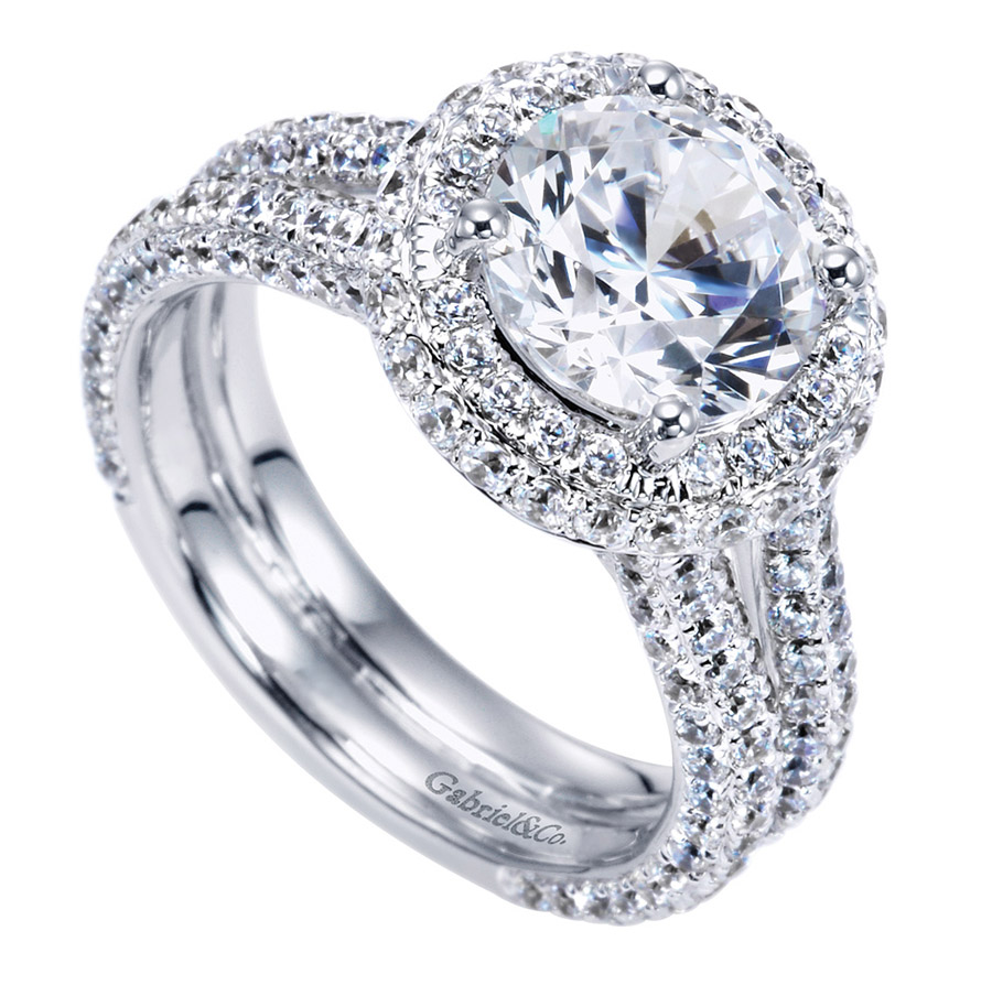 Gabriel 18 Karat Contemporary Engagement Ring ER8327W83JJ Alternative View 2