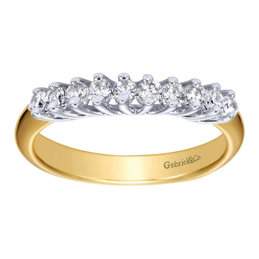 Gabriel 14 Karat Contemporary Wedding Band WB3959Y44JJ