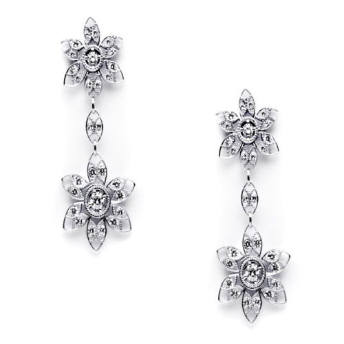 Tacori Diamond Earrings 18 Karat Fine Jewelry FE634