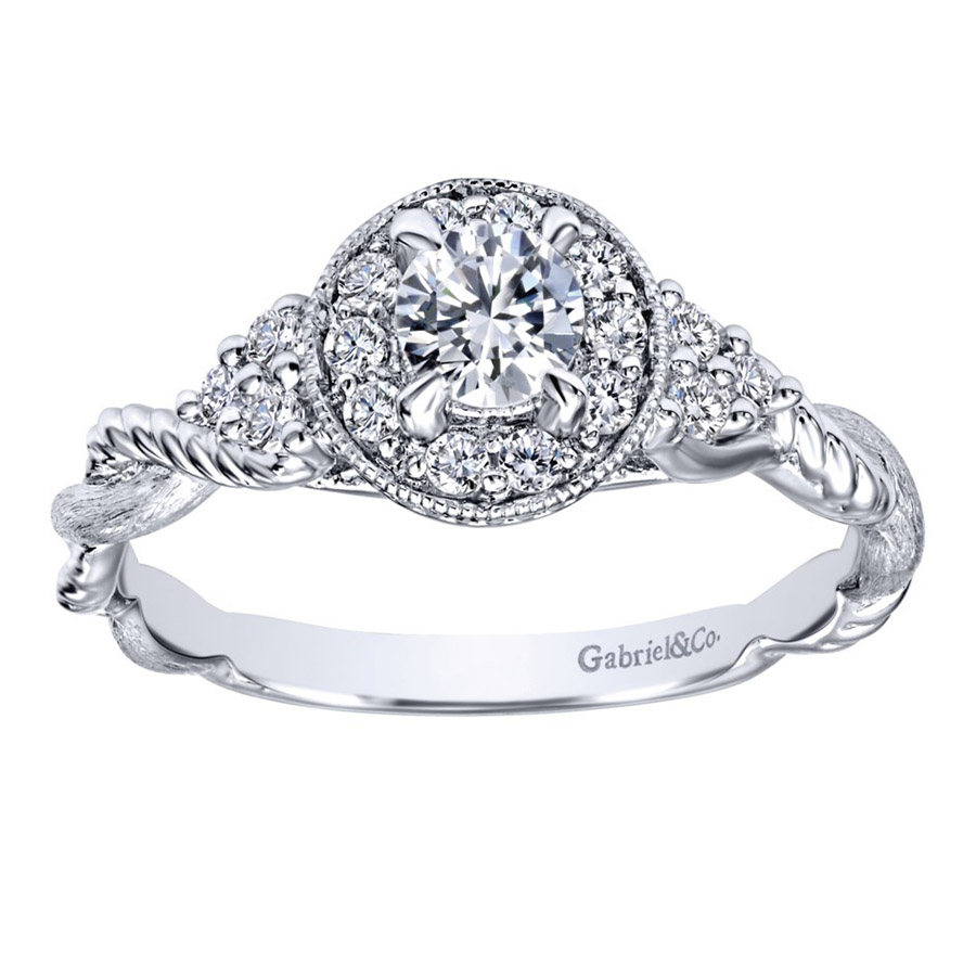 Gabriel 14 Karat Contemporary Engagement Ring ER910767W44JJ Alternative View 4