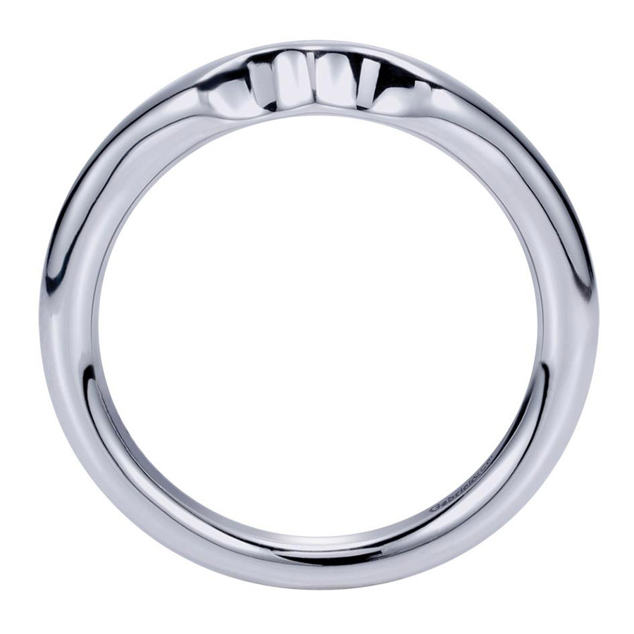Gabriel Platinum Contemporary Wedding Band WB5993PTJJJ Alternative View 1