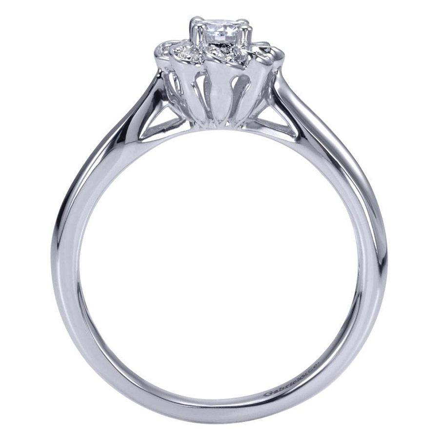 Gabriel 14 Karat Contemporary Engagement Ring ER98421W44JJ Alternative View 1