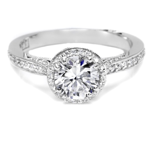 Tacori Dantela 18 Karat Engagement Ring 2639RDP65 Alternative View 2