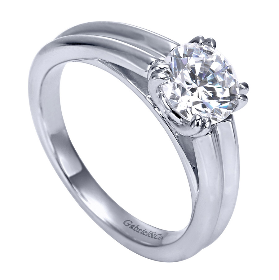 Gabriel Platinum Contemporary Engagement Ring ER8135PTJJJ Alternative View 2