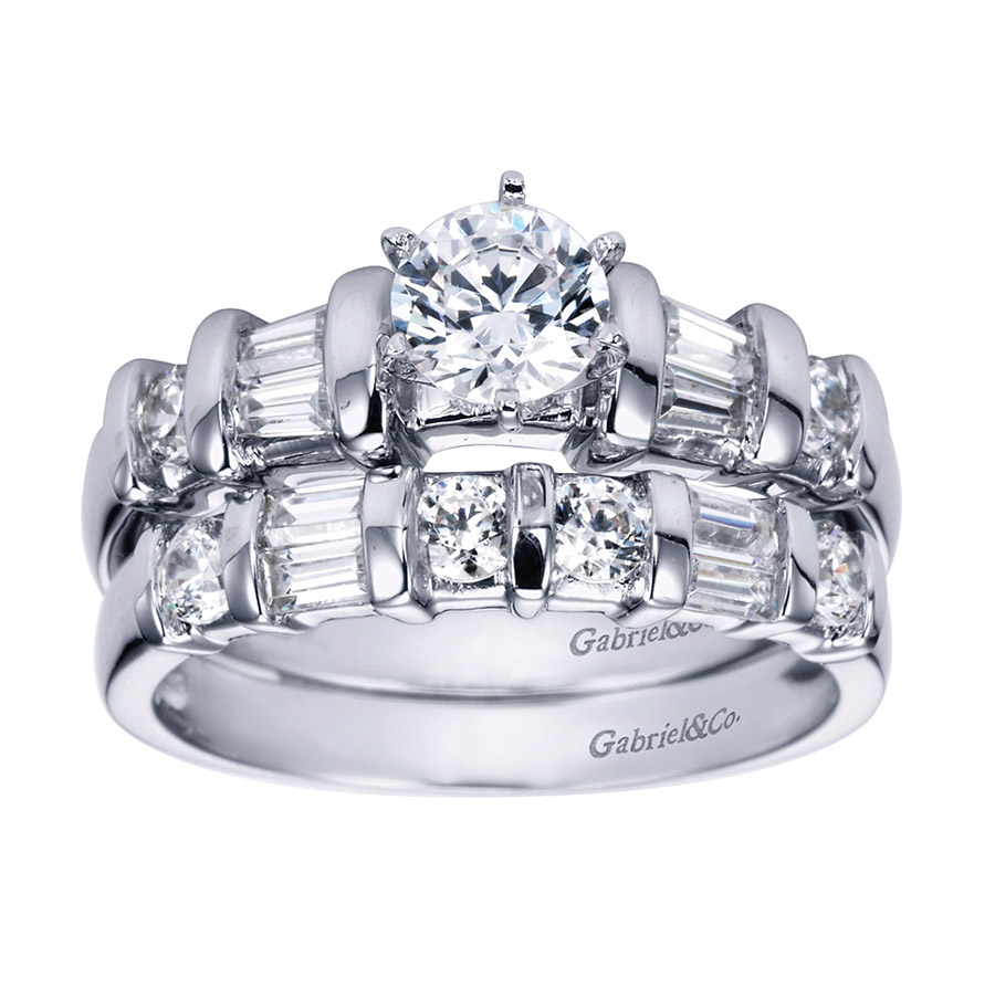 Gabriel 14 Karat Contemporary Engagement Ring ER2693PT3JJ Alternative View 3