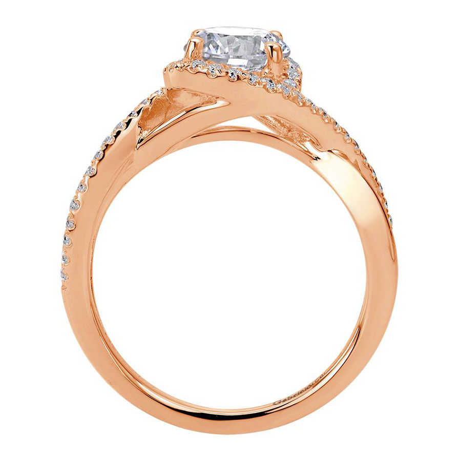 Gabriel 14 Karat Contemporary Engagement Ring ER7804K44JJ Alternative View 1