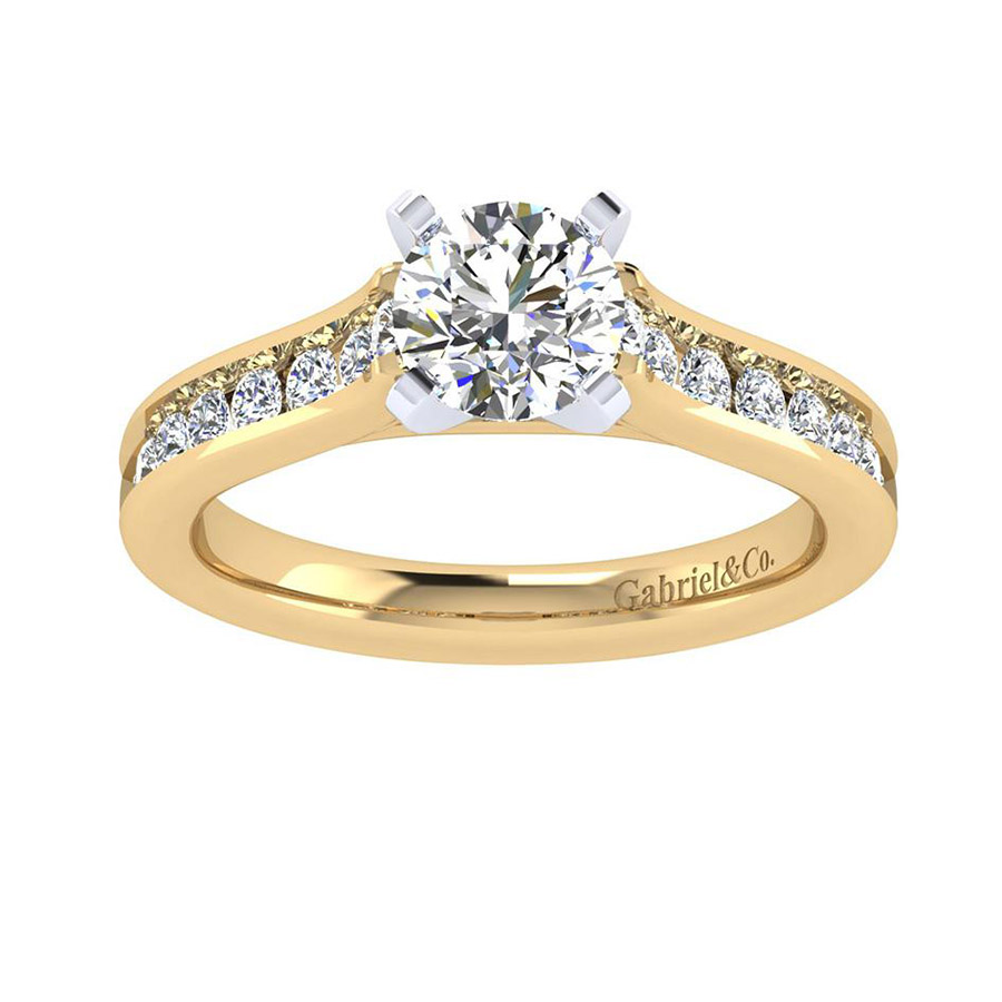 Gabriel 14 Karat Contemporary Engagement Ring ER7438M44JJ Alternative View 4