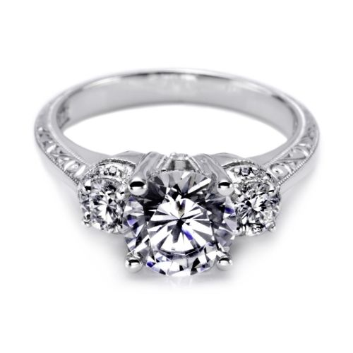 Tacori Hand Engraved 18 Karat Engagement Ring HT2339
