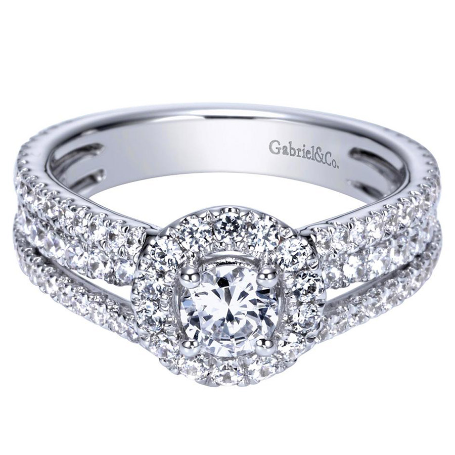 Gabriel 14 Karat Contemporary Engagement Ring ER98535W44JJ