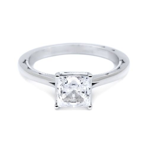 Simply Tacori Platinum Diamond Solitaire Engagement Ring 50PR6