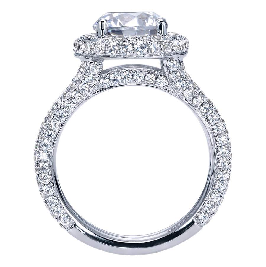 Gabriel 18 Karat Contemporary Engagement Ring ER8327W83JJ Alternative View 1