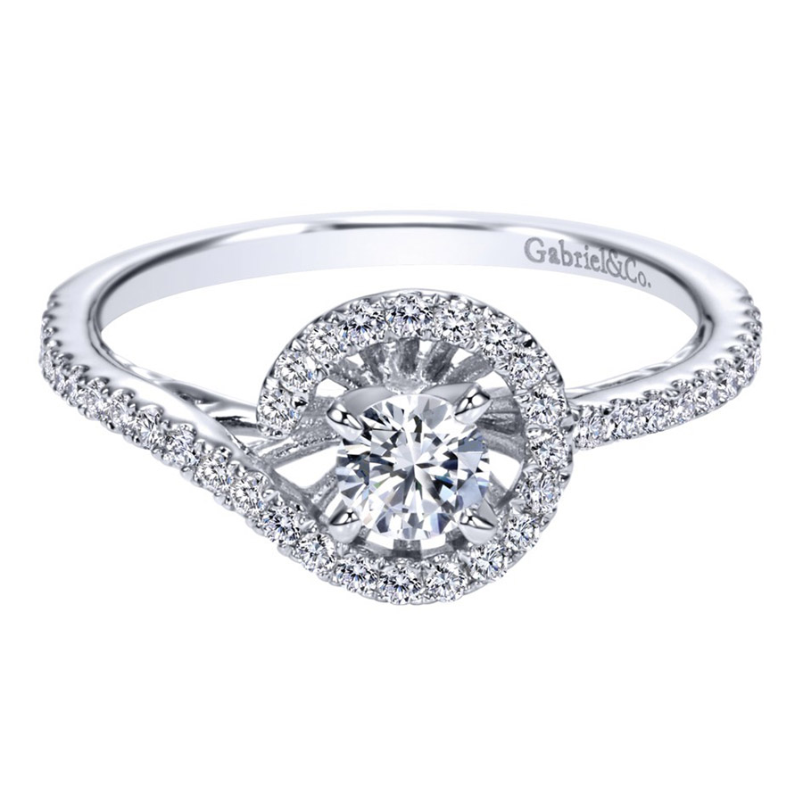 Gabriel 14 Karat Contemporary Engagement Ring ER97718W44JJ
