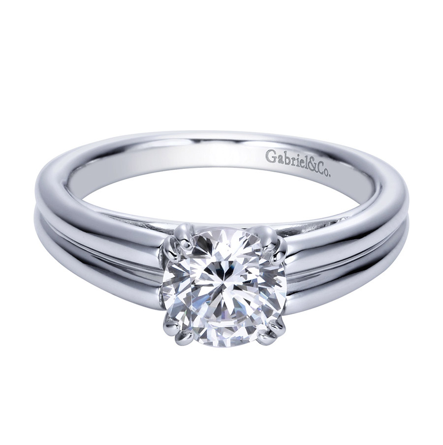 Gabriel Platinum Contemporary Engagement Ring ER8136PTJJJ