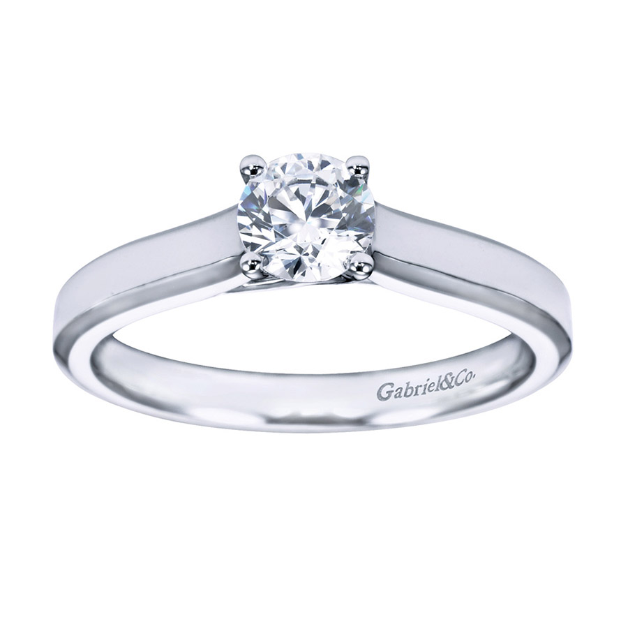 Gabriel Platinum Contemporary Engagement Ring ER6579PTJJJ Alternative View 4