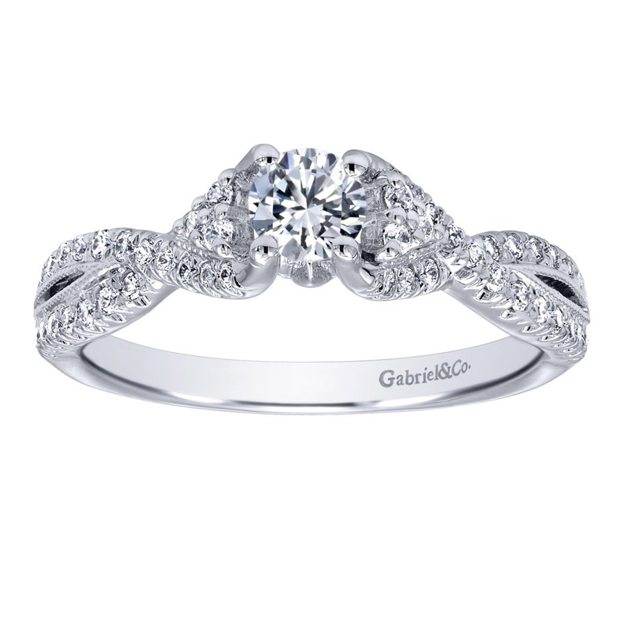 Gabriel 14 Karat Contemporary Engagement Ring ER910175W44JJ Alternative View 4