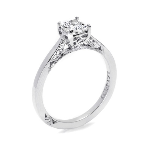 Tacori Dantela Platinum Engagement Ring 2638PR55 Alternative View 1