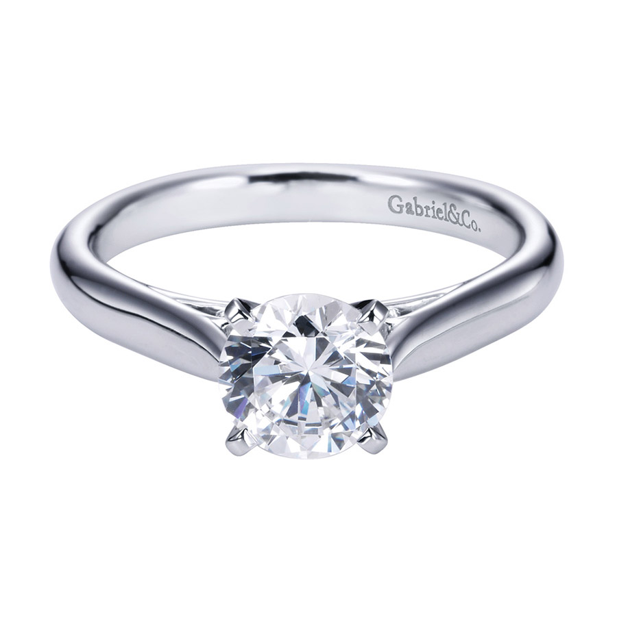 Gabriel Platinum Contemporary Engagement Ring ER6672PTJJJ