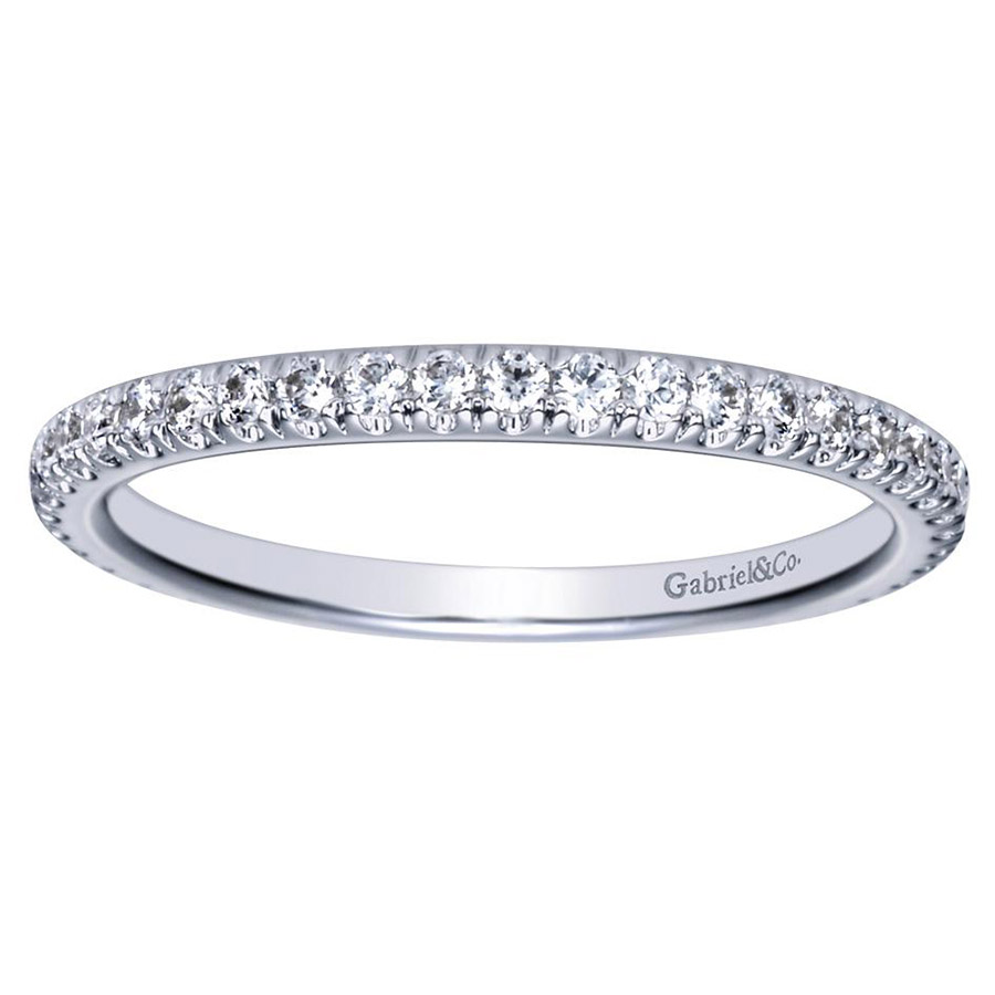 Gabriel 14 Karat Contemporary Wedding Band WB8507W44JJ Alternative View 4