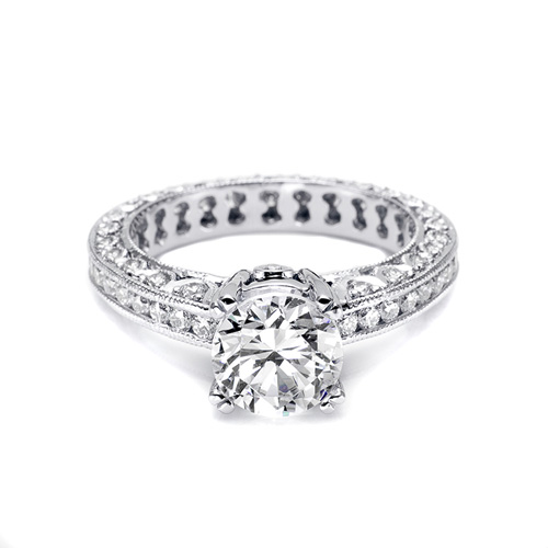 Tacori Platinum Crescent Engagement Ring HT2326SOL