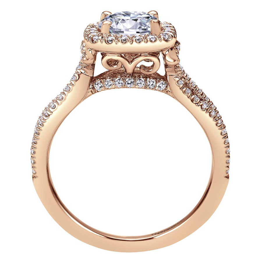 Gabriel 14 Karat Contemporary Engagement Ring ER7806K44JJ Alternative View 1