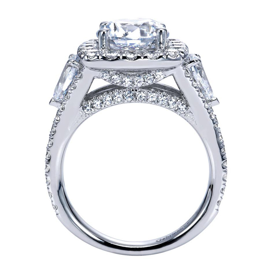 Gabriel 14 Karat Contemporary Engagement Ring ER8328W83JJ Alternative View 1