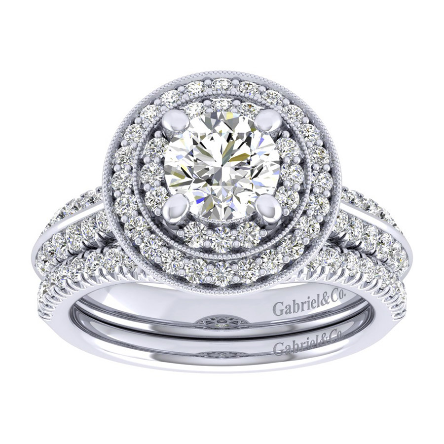 Gabriel 14 Karat Perfect Match Engagement Ring ER002B4AHW44JJ Alternative View 3