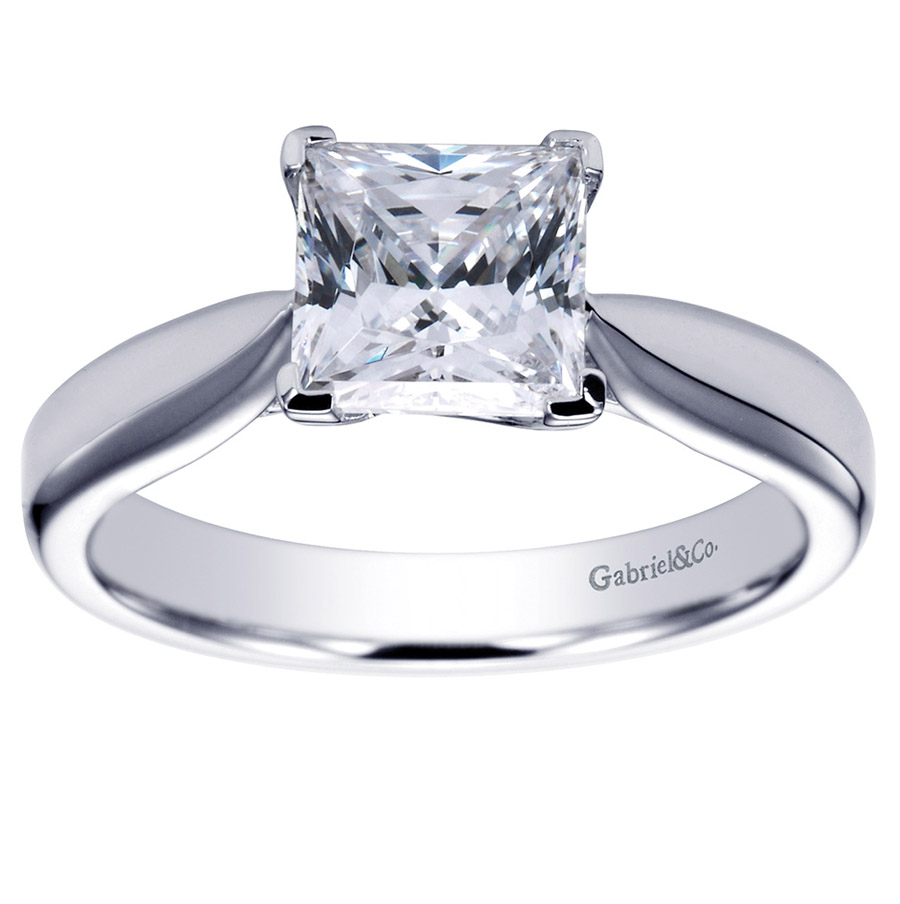 Gabriel Platinum Contemporary Engagement Ring ER6597PTJJJ Alternative View 4