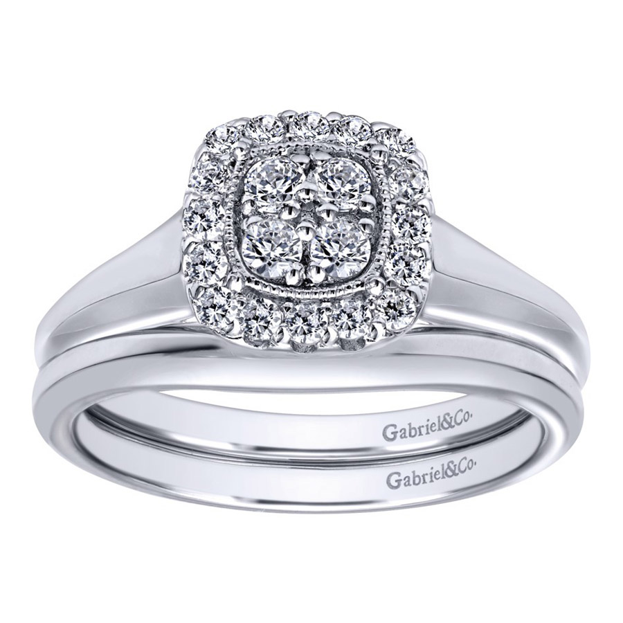 Gabriel 14 Karat Contemporary Engagement Ring ER10776W44JJ Alternative View 3